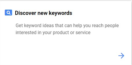 Discover new keywords