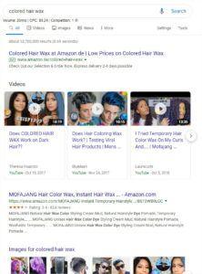 colored hair wax-SERP