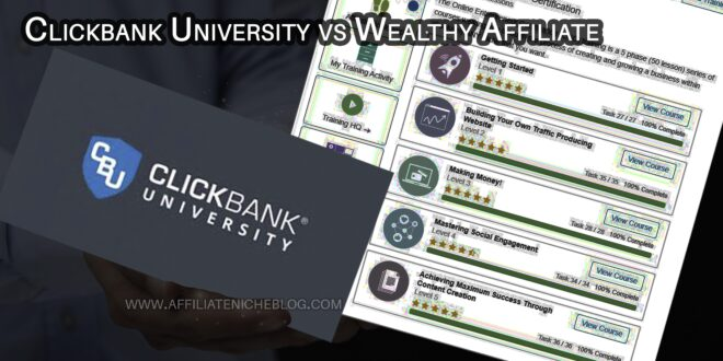 Clickbank University vs Wealthy Affiliate
