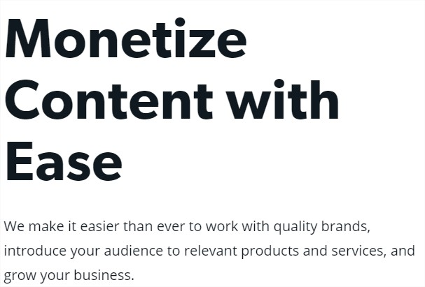 Monetize Content with Ease