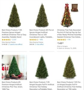 Christmas trees affiliate products