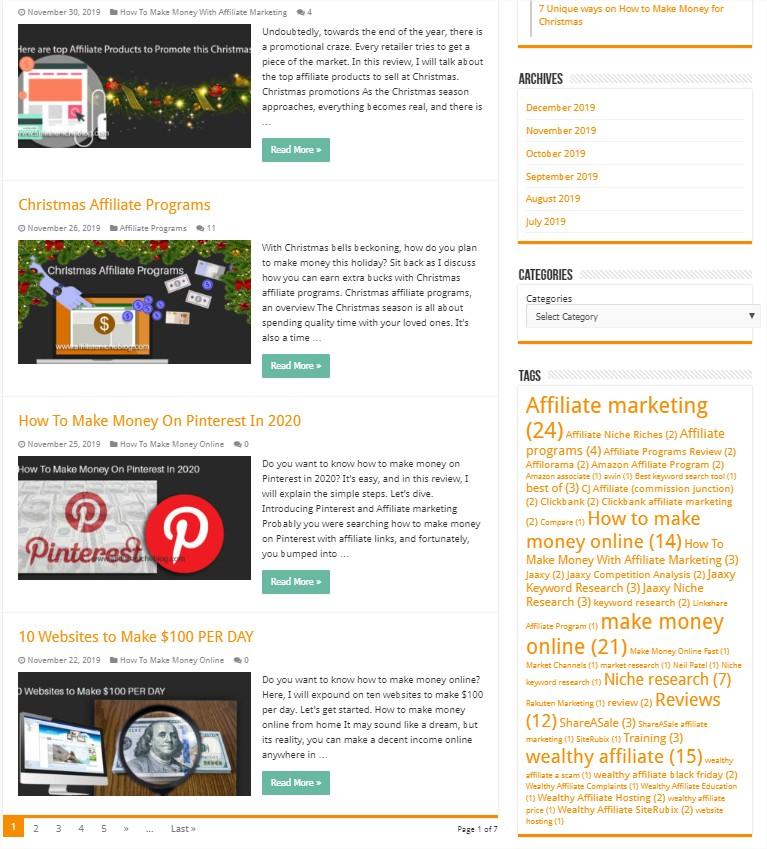 Make online money by blogging