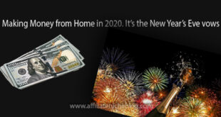 Making Money from Home in 2020. It's the New Year's Eve vows